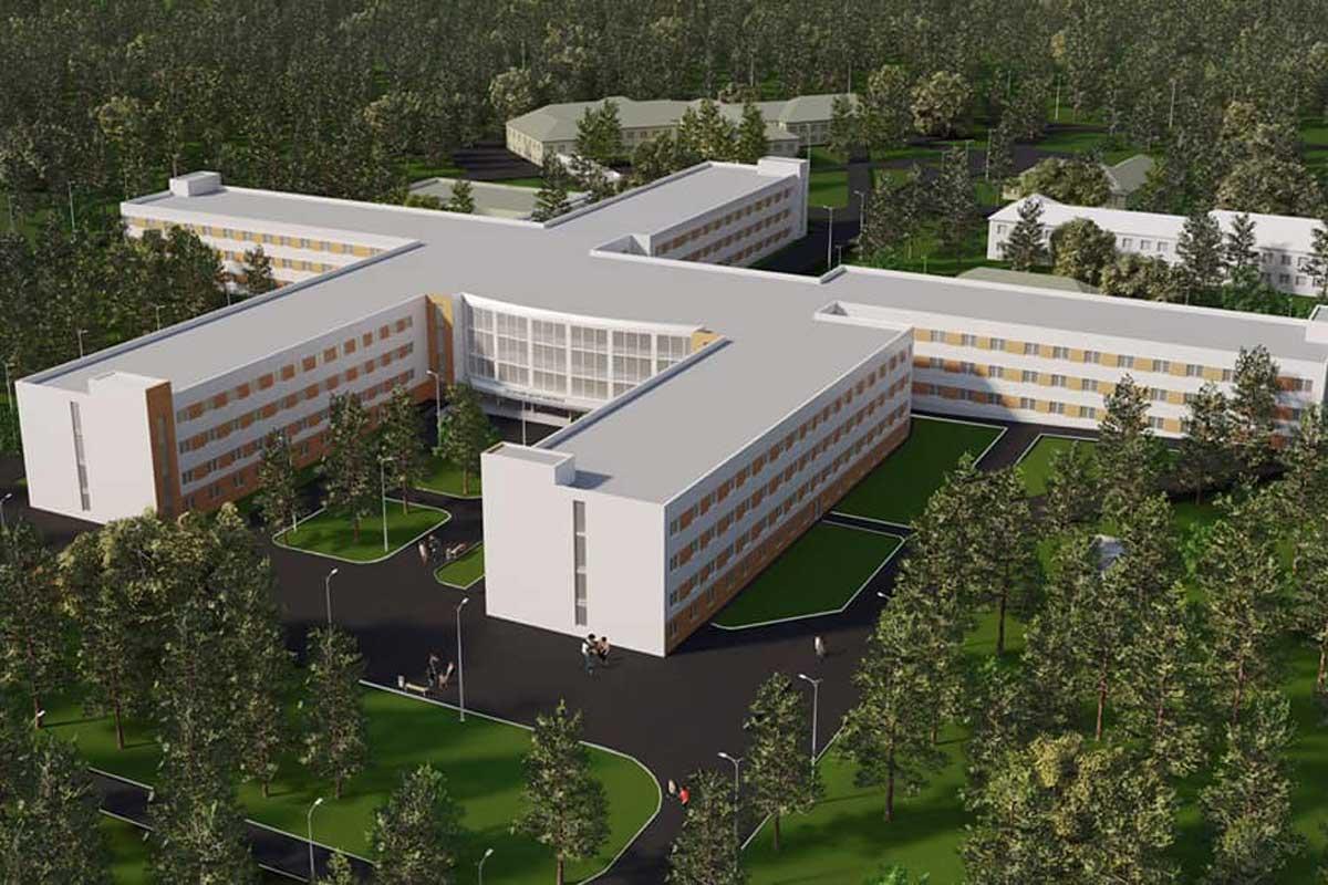 Будущий онкологический центр на Лесопарковой