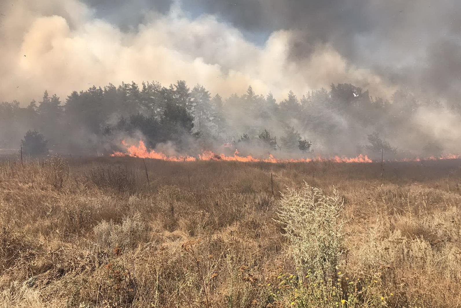 Пожар в Чугуевском районе