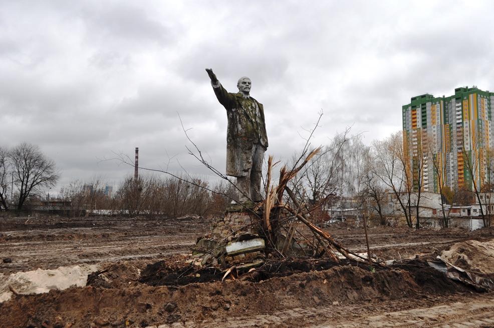 Уцелел. ВКиеве отыскали монумент Ленину