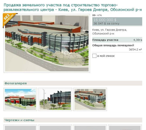 ВКиеве за $16 млн. реализуют землю под рынком «Оболонь»