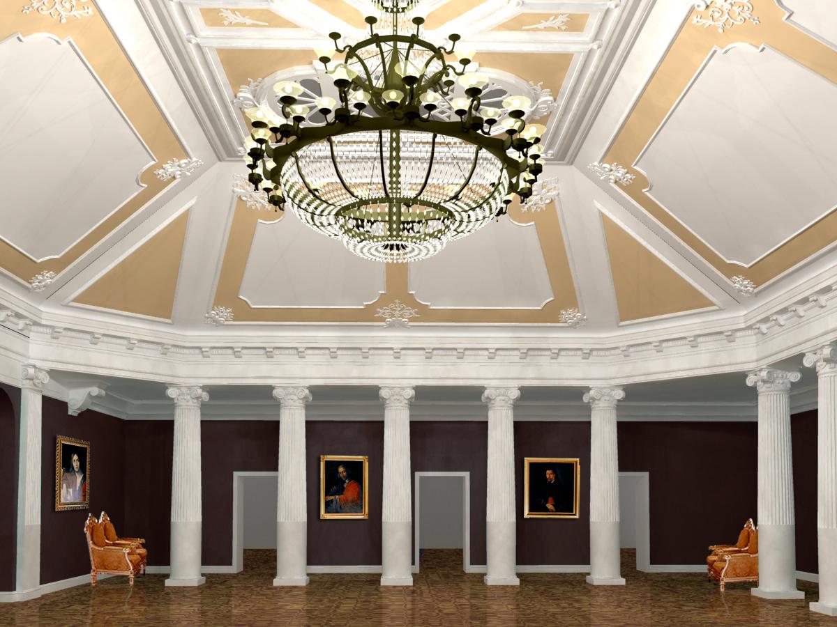 Проект фойе большого зала