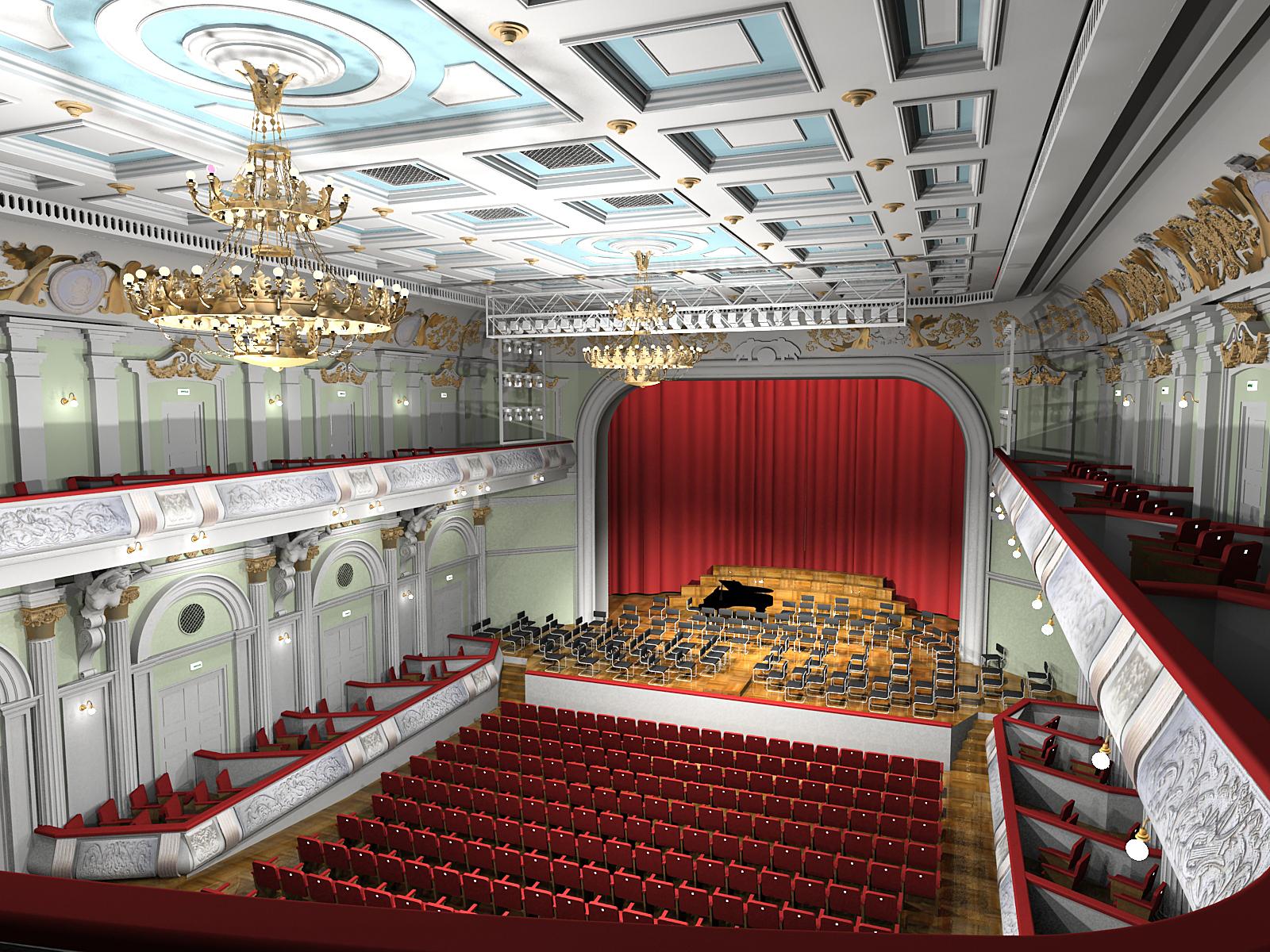Восстановленный Большой зал