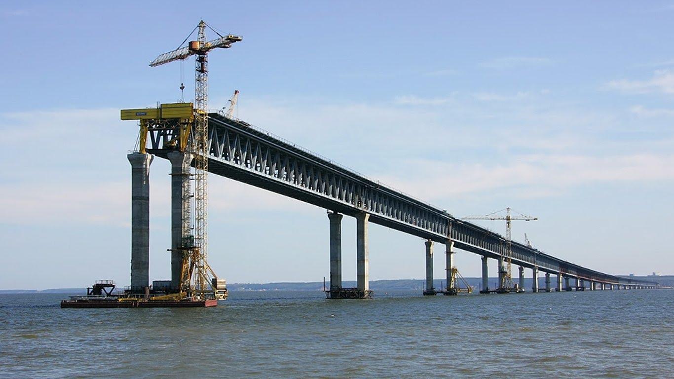 строительство керченского моста фото сегодня