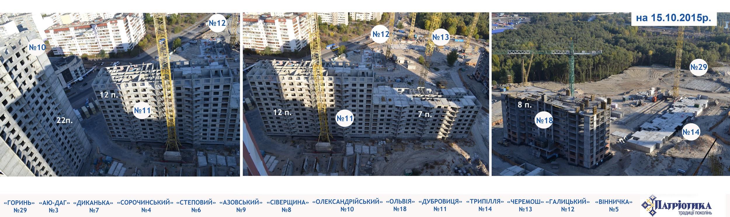 Фотоотчет строительства Ж/М «ПАТРИОТИКА», в Дарницком р-не столицы