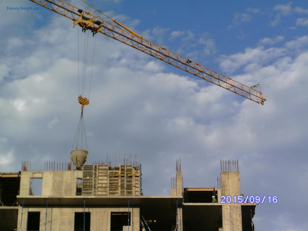 Фотоотчет строительства ЖД на ул. Ильича, 17, в Дарницком р-не столицы