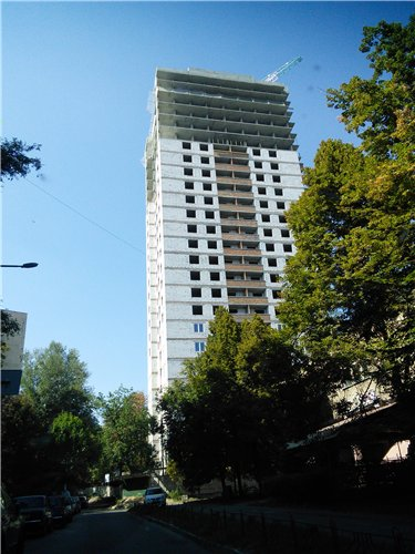 Ход строительства ЖД на ул. Тбилисской, в Шевченковском р-не столицы