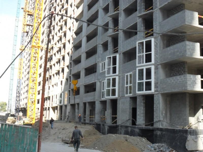 Фотоотчет строительства ЖК «Позняки» (очередь V), в Дарницком р-не столицы