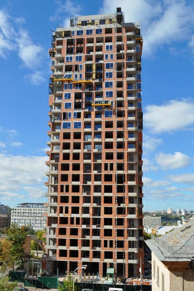 Фотоотчет строительства ЖК «Тетрис Холл», в Печерском р-не столицы