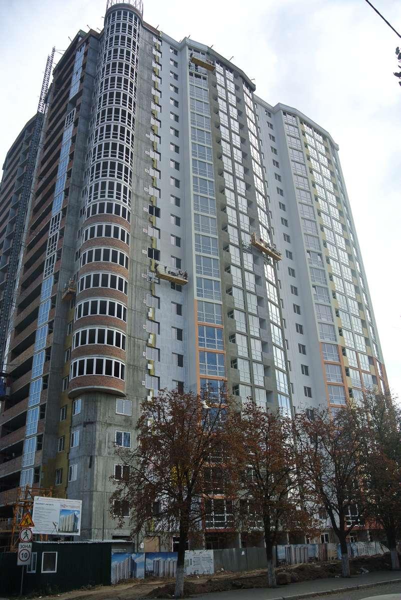 Фотоотчет строительства ЖК «Микитская Слобода», в Соломенском р-не столицы