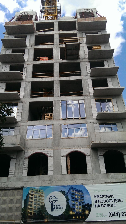 Фотоотчет строительства ЖК «BonApart», в Подольском р-не столицы
