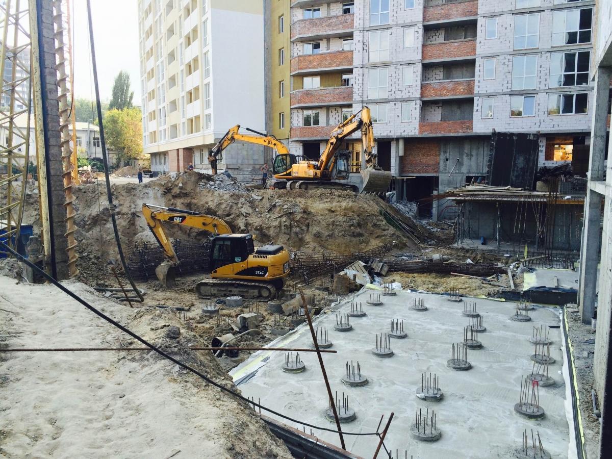 Фотоотчет строительства ЖК «Gloria Park», в Шевченковском р-не столицы