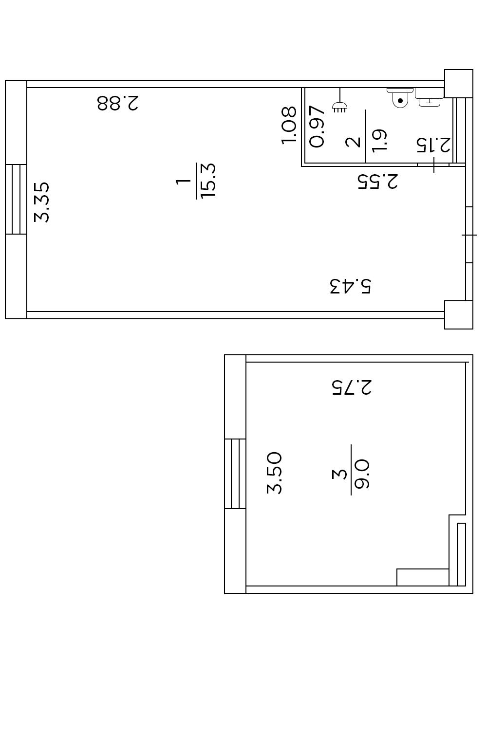 Двухуровневая гостинка 26 кв.м.